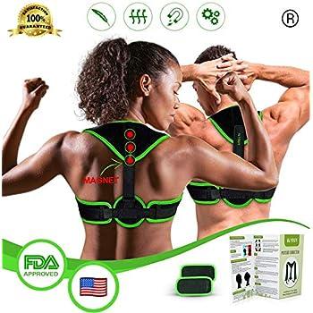 Posture Corrector Back Straightener for Women & Men, Magnetic Upper Back Brace Slouch Posture Support, Upright Posture Trainer, Clavicle Brace Neck Hump ...