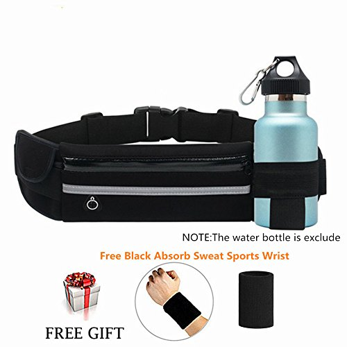 ZOORON Running Belt Waist Pack - Water Resistant Runners Belt Fanny Pack for Hiking Fitness - Adjustable Running Pouch for All Kinds of Phones iPhone Android Windows
