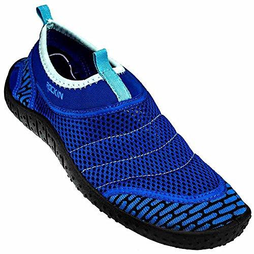 Rockin Footwear Men's Rockin Aqua Power Water Shoe, Blue, US Size: 10 Regular US
