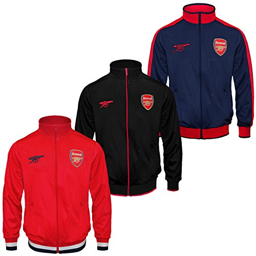 Arsenal Football Club Official Soccer Gift Boys Retro Track Top Jacket – DiZiSports Store