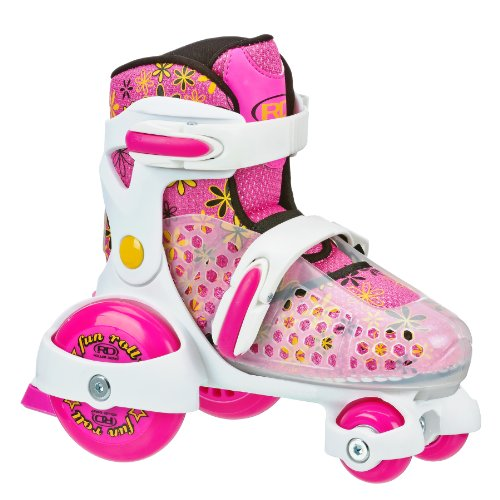 Roller Derby Girl's Fun Roll Adjustable Roller Skate, Small (7-11) by Roller Derby