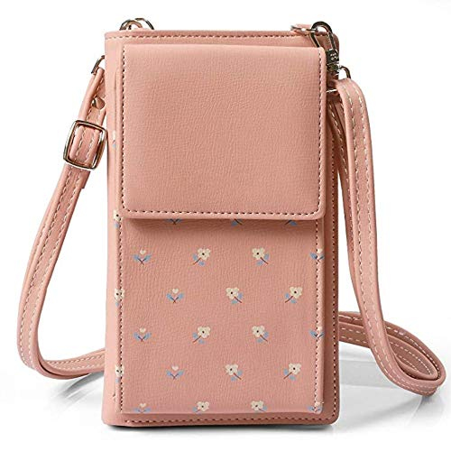 Paste Purse Handbag Crossbody Coin Leather Cell with Flower Roomy Bean Wallet Mini Bag Strap Shoulder Women for Bag Bag Small Pockets Phone Girl BwpPqx7p
