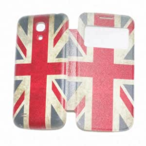 Flip Cover with window display for SAMSUNG Galaxy S4 mini (Flag of the United Kingdom)