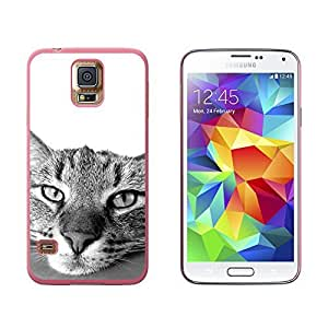Domestic Shorthair Tabby Cat - Snap On Hard Protective Case for Samsung Galaxy S5 - Black