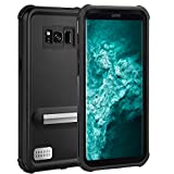 Samsung Galaxy S8 Plus Waterproof Case, IP68 Certified Clear Sound Case with Touch ID Full Body Protection Shockproof Dustproof Snowproof Cover with Kickstand for Samsung Galaxy S8 Plus(6.2 inches)