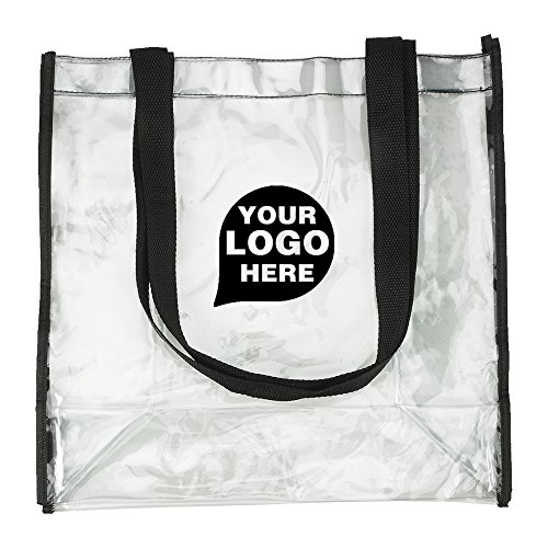 Clear View Stadium Tote - 150 Quantity - $2.85 Each - PROMOTIONAL PRODUCT / BULK / BRANDED with YOUR LOGO / CUSTOMIZED by CloseoutPromo