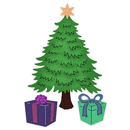 Cheery Lynn Designs Classic Christmas Tree Scrapbooking Die Cut Set, 5 Piece