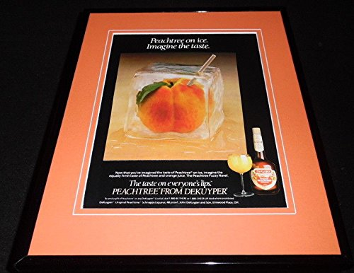 1988 Peachtree Schnapps on Ice DeKuyper Framed 11x14 ORIGINAL Advertisement