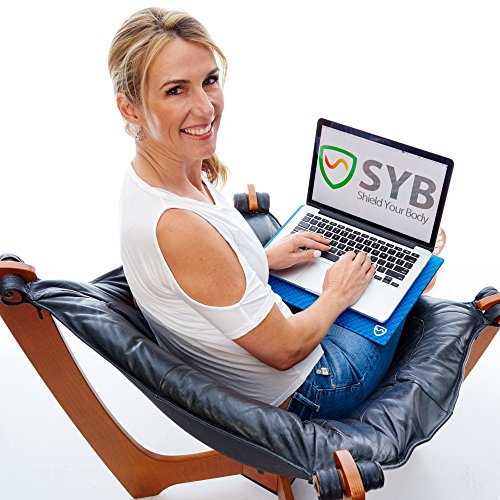 """Amazon.com: SYB Laptop Pad, EMF Radiation Protection Shield & Heat Blocker for Laptops up to 14"""" (Ultra Marine): Computers & Accessories"""