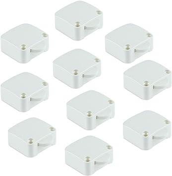 Emuca - Interruptor de contacto para puerta de mueble 2 posiciones ON-OFF, Negro, Set de 10 piezas: Amazon.es: Bricolaje y herramientas