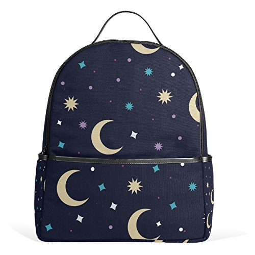 Backpack Moon Night Schoolbag 1-3th Grade for Boys Teen Girl