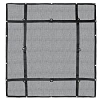 Heavy Duty Cargo Net,Durable Cargo Mesh,Fixed-point Adjustable Cargo Web,with Grommet Anchoring Points and Strength-increasing Webbing,for the Bed of Pickup Truck Trailer Boat