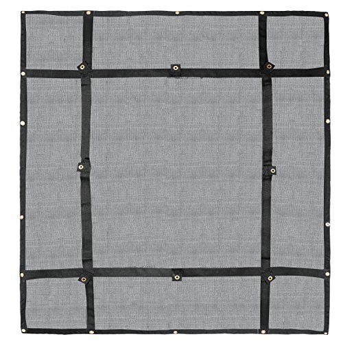(Truck Bed Cargo Net Organizer 4.75'x 6' | Heavy Duty Bungee Webbing, Adjustable & Rip Proof Mesh with Grommet Anchoring Points & Tarp | for Pickup Trucks, Trailers, Vans, Boats & More)