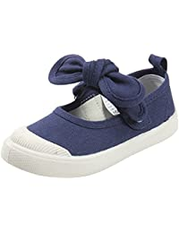 Girls Princess Bowknot Canvas Shoes Slip-on Mary Jane...