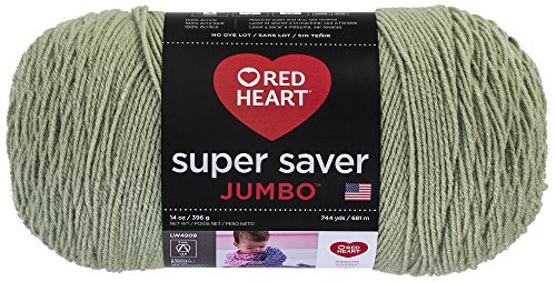 Price comparison product image RED HEART Super Saver Jumbo Yarn, Frosty Green