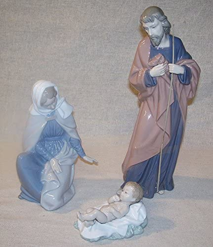 Nao by Lladro Collectible Porcelain Figurine NATIVITY set w Mary, Joseph, and Baby Jesus…