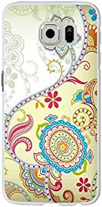 Samsung Galaxy S6 Case 2015 Personality Pink flowers background for Comfort Custom Samsung Galaxy S6