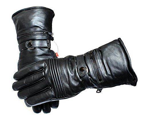 Motorcycle Leather Winter Gloves All Sizes Heavy Duty Cow Hide Fully Lined New-S