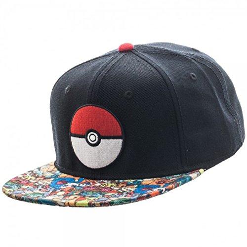 Pikachu Hoodie For Men (Pokemon- Pokeball Sublimated Snapback Hat Size ONE Size)