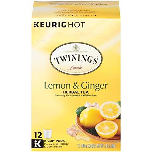 Twinings of London Lemon & Ginger Herbal Tea K-Cups for Keurig, 12 Count (Pack of 6) by Twinings (Image #11)