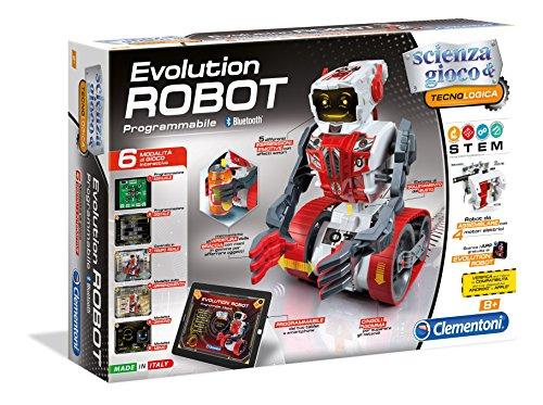 engineering toys for 12 year olds Programmable DIY Bluetooth OR Manually Controlled Evolution Robot Kit By Clementoni