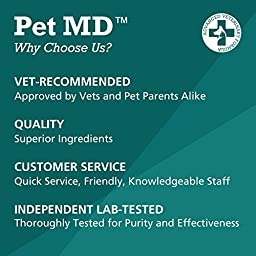 Pet MD SAMe Plus S-Adenosyl for Dogs 225 MG Hepatic Liver Supplement and Cognitive Support - 60 Count