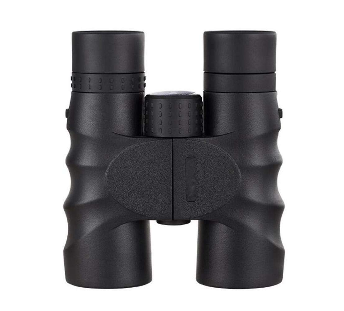 ZGQA-GQA 10X42 Telescope, Dual HD Night Vision Binoculars for Outdoor Easy Carrying Nitrogen-Filled Waterproof FMC Green Black, for Adult (Color : Black) by ZGQA-GQA