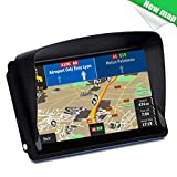 NAVRUF 7-inch Touchscreen GPS Navigation for Car, Voice Steering Navigation,Built-in 8BG &128MB No Need to insert a Card GPS Navigation System with Lifetime Free Map