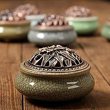 XDOBO Ceramic Ge Ru Kiln Bedroom Cream Colour Incense Burner Holder Gifts & Decor