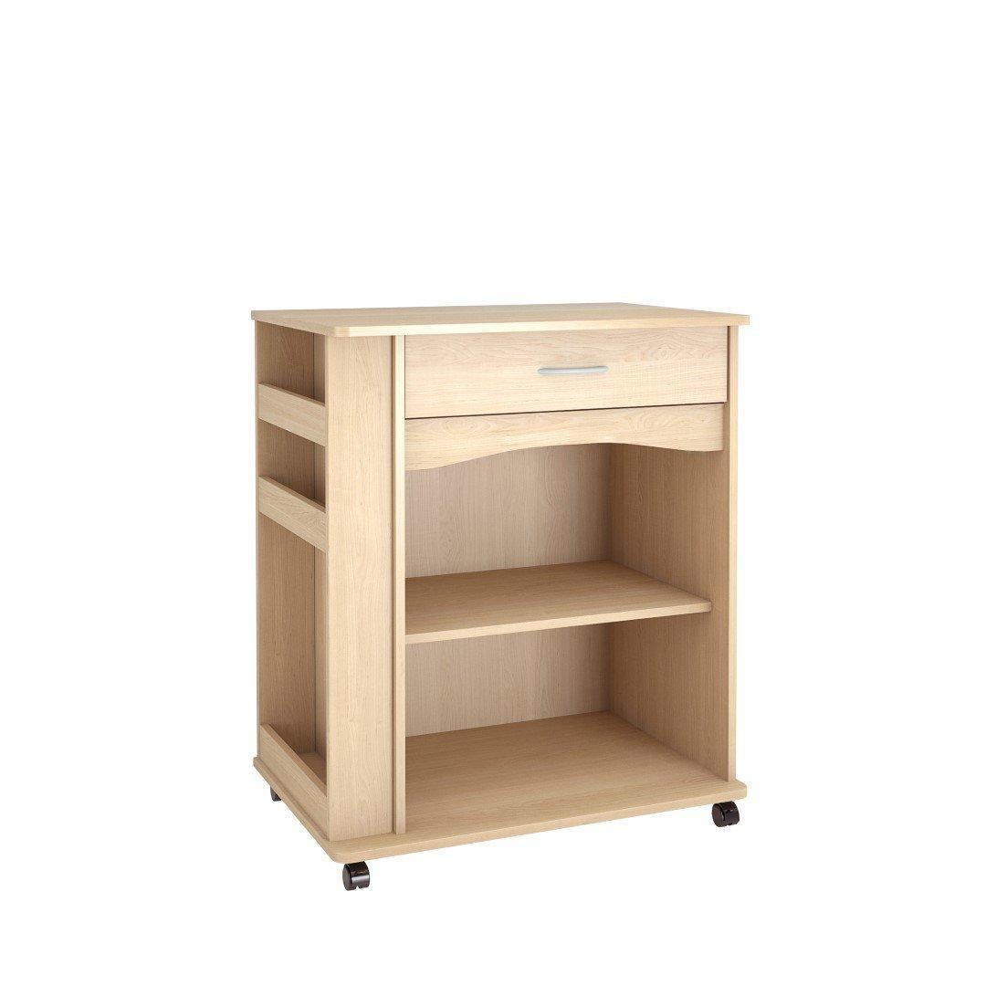 amazon com nexera mobile cart with side racks kitchen u0026 dining