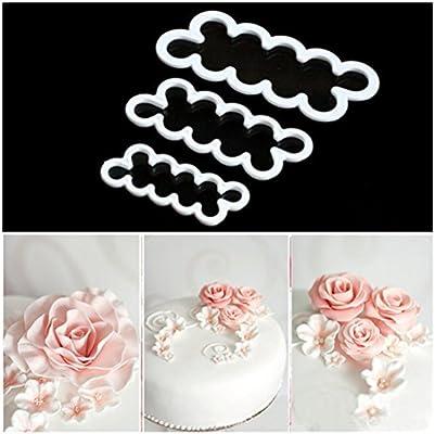 3Pcs Cake Mold Tools New Rose Flower Sugar Craft Plunger Decor Baking Supplies