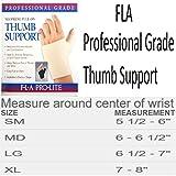 FLA Orthopedics Prolite Neoprene Pull on Thumb Support, Black, Medium