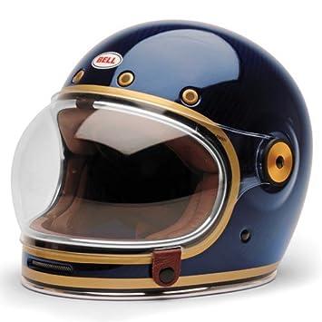 4d4af79f Bell Bullitt Carbon Candy Blue Helmet (L): Amazon.co.uk: Car & Motorbike
