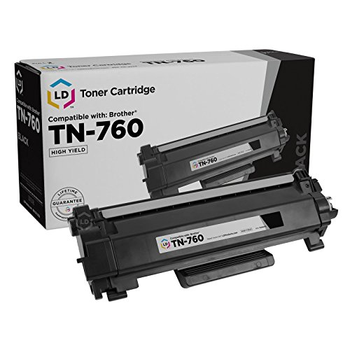 (LD Compatible Toner Cartridge Replacement for Brother TN760 High Yield (Black))