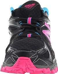 New Balance KJ610 Trail Running Sneaker,Black/Pink,4 M US Big Kid
