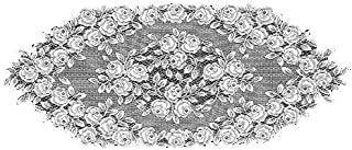 product image for Heritage Lace Tea Rose 14-Inch by 36-Inch Runner, Ecru