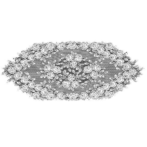 Heritage Lace Tea Rose 14-Inch by 36-Inch Runner, White from Heritage Lace