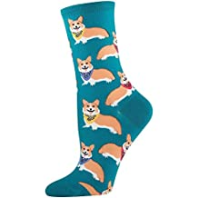 Socksmith Women's Corgi Socks in Emerald (One size fits most: Sock size 9-11 will fit a women's shoe size 6-10)