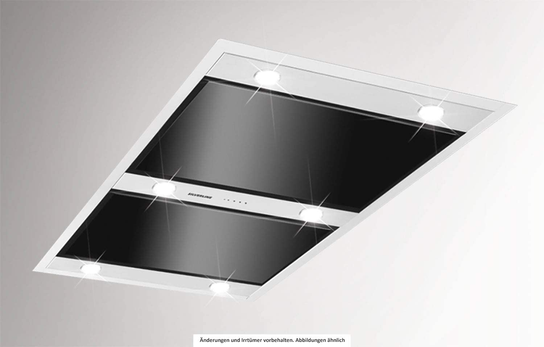 Silverline Vega Intern Premium VGID 120 S - Cubierta de techo (acero inoxidable y cristal, 120 cm), color negro: Amazon.es: Grandes electrodomésticos