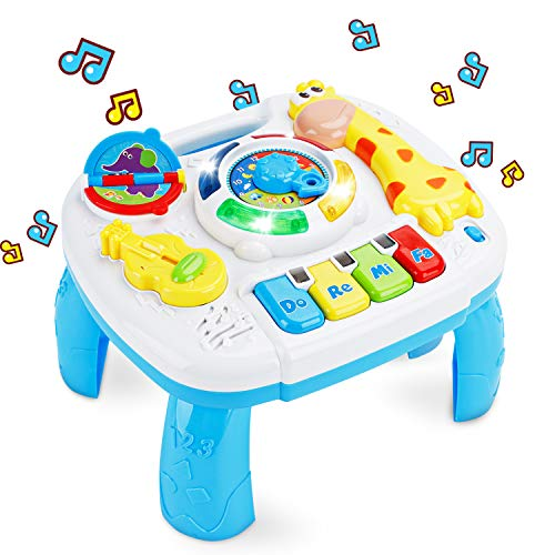 baccow Baby Toys 6 to 12-18 Months Musical Educational Learning Activity Table Center Toys for Toddlers Infants Kids 1 2 3 Year Olds Boys Girls Gifts