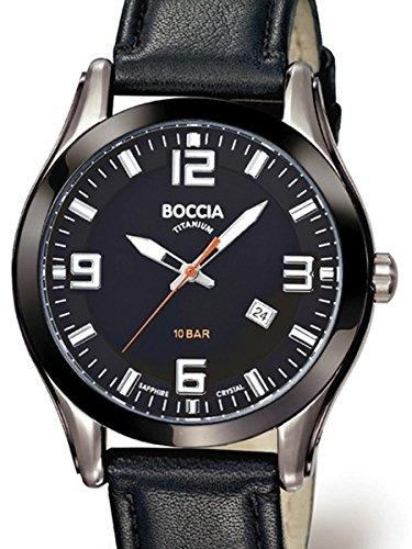 Boccia Mens Quartz Sport Watch with 42mm Titanium Case and Sapphire Crystal 3555-01