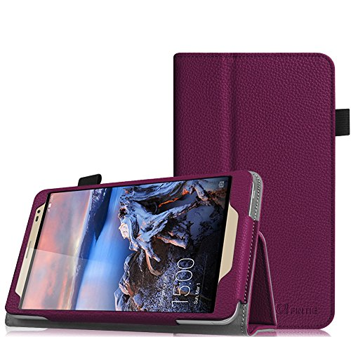 Fintie Huawei MediaPad X2 7.0 Hülle - Slim Fit Kunstleder (Folio) Schutzhülle Tasche Case Cover Standfunktion und Stylus-Halterung für Huawei MediaPad X2 7 Zoll LTE / WiFi Tablet-PC, Lila