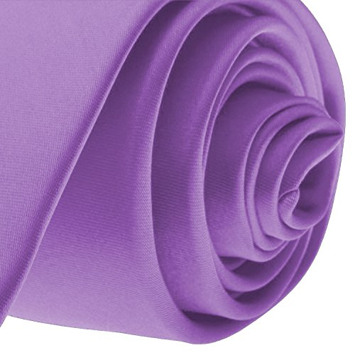 NEW SOLID Violet Purple SATIN Mens Necktie Neck Tie - coolthings.us