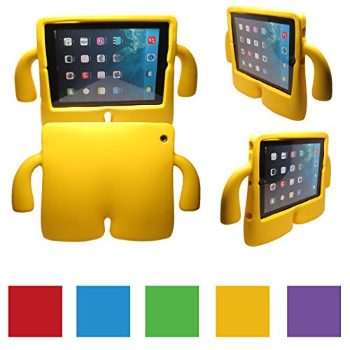 iPad 2/3/4 Kids Case, Kids Shock Proof Foam Case Cover Stand for iPad 2/3/4 (YELLOW)