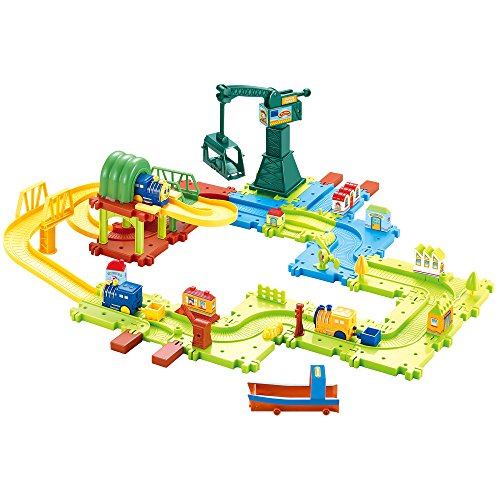 Hey!Play! 80-HM675793 Plastic Train Set (Plastic Set Train)