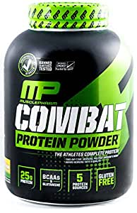 MusclePharm Combat Powder Advanced Time Release Protein, Banana Cream  4 Pound