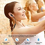 Bluetooth Headphones, Best Wireless Sports Earphones w/Mic HD Stereo Sweatproof Earbuds for Gym Running Workout 8 Hour Battery Noise Cancelling Headsets