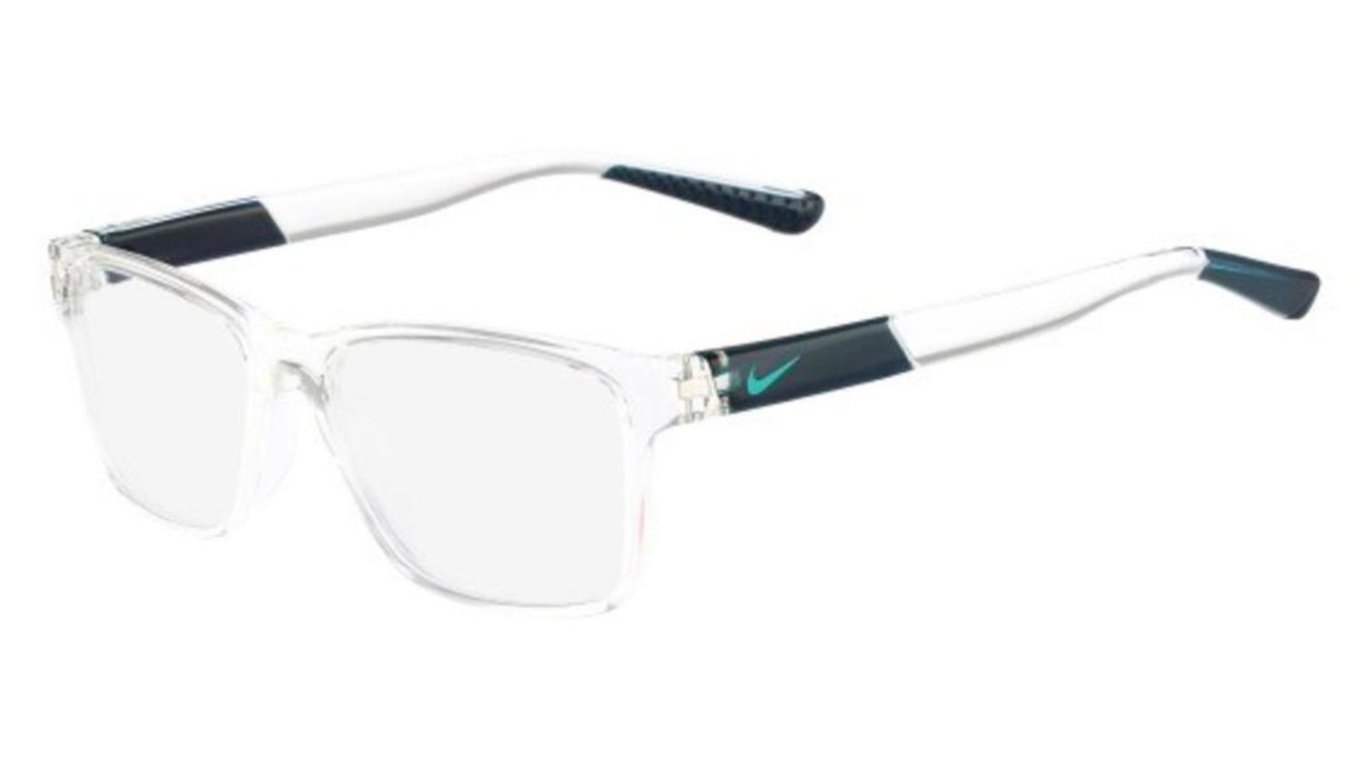 NIKE Eyeglasses 5532 110 Crystal/Space Blue 46MM