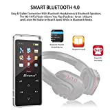 8GB Bluetooth MP3 Player, 50 Hours Playback Lossless Sound Music Player with FM Radio / Voice Recorder (Supports up To 128GB)