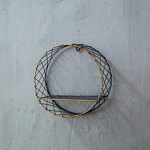 Creativo retro pared decoraciones interiores hogar pared-montado rack viento industrial madera maciza rack tablero sala de...